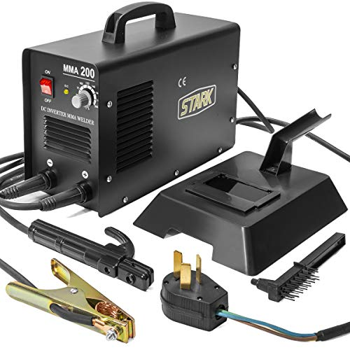 XtremepowerUS 200 AMP Arc Welder Welding Advance IGBT Soldering Machine DIY Tool Inverter Welder LED Digital Display w/Mask
