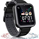 Kids Smart Watches for Boys Girls 17 in 1 Phone Smart Watch for Kids Games Music Call SOS Flashlight Calculator Recorder Alarm Clock Age 3-12 Years Old Birthday (Black)