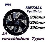Uzman-Versand 250mm Ventilador Industrial Ventilación...