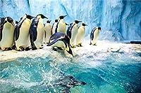 ジグソーパズル120ピース木製パズルショアペンギンの群れ10代の子供と大人のために非常に良い教育ゲーム