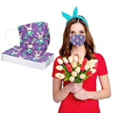 Alangbudu Adult Disposable Face_Masks, Non-Woven, Dust Proof, M-ask Easter Basket_Masks Gifts For Outdoor Sports (20PC)