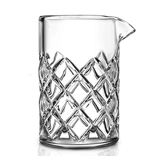 GMISUN Cocktail Mixing Glass - 17oz Bar Mixing Pitcher for Stirring Drinks - 1/4-inch Thick Walls with Solid Bottom - Classy Bartending Martini Mixer Perfect 2 - 3 Drinks