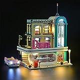 WXFN Kit De Iluminación LED para (The Downtown Diner Creator Expert) Bloques De Construcción Modelo - Compatible con Lego 10260 (No Incluido El Modelo)