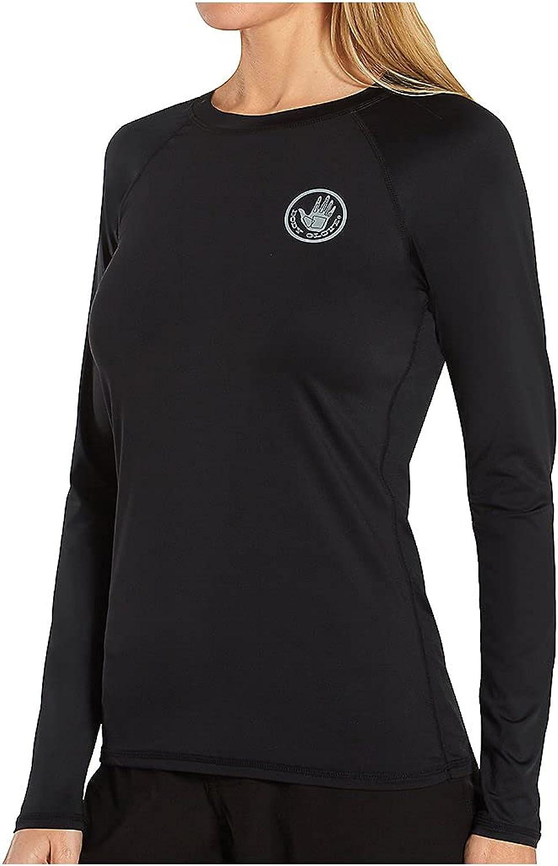 Body Glove Women's Standard Smoothies Sleek Solid Long Sleeve Rashguard with UPF 50+