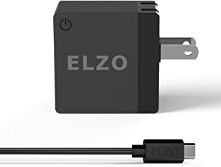 Elzo Quick Charge 2.0 18W USB Rapid Wall Charger Adapter Fast Portable Charger with A 3.3ft Micro USB Cable for Samsung Galaxy/Note, LG Flex2/V10/G4, Nexus 6, Motorola Droid/X, Sony Xperia, HTC, ASUS