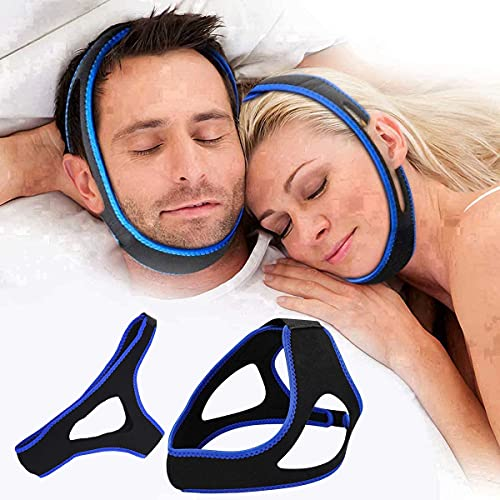 Comfortable Mesh Breathable My Stop Snoring Solution Chin Strap Anti Snore Stopper Devices Strips Mask Belt Head Jaw Sleep Aid Anti Snoring Chin Strap for Cpap Users