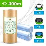 400 M - ECO Recharge de poubelle à couches compatible Sangenic TEC & Simplee | Angelcare | Litière Litter Locker II | Recharge...