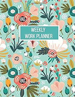 Weekly Work Planner: 12 Month Planner with weekly to-do list, annual and monthly planning, goal tracking (Planners & Organ...