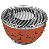 eSituro Barbecue Portatile a Carbone da Tavola Griglia con Ventola a Batteria BBQ per Campeggio Picnic SBBQ0001