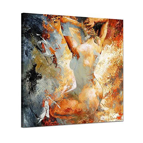 Pintura Al óLeo Pintada A Mano Cuadros Abstractos Modernos Mujer Sobre Lienzo Arte Sala De Estar Dormitorio DecoracióN Para El Hogar,canvas,80×80cm