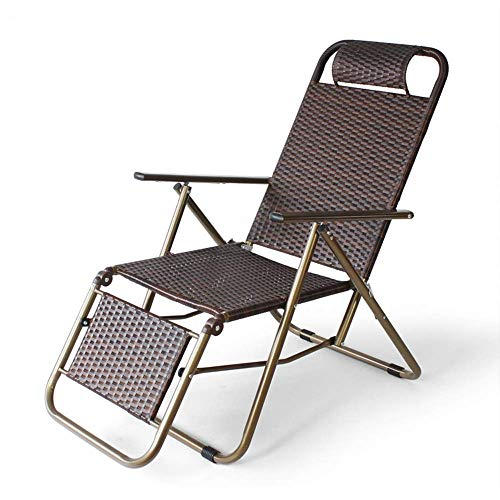 Patio Lounge Chairs Recliner Folding Chair Metal Steel Tube Multifunctional Folding Chair Leisure Chair Home Office Garden Outdoor Lunch Break Lazy Chair Beach Chair 58*11*92cm (22.8*4.3*36.2 Inc
