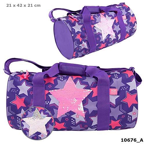 TOPModel Sporttasche Streichpaillette Stern lila Schultertasche Tasche *NEU*OVP*