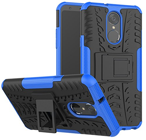 LG Stylo 4 Case, LG Q Stylus Case, LG Stylo 4 Plus, Yiakeng Dual Layer Shockproof Wallet Slim Protective with Kickstand Hard Phone Case Cover for LG Stylo 4 (Blue)