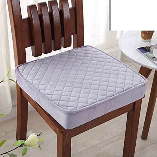 Aocean WJX & Likerr - Cojín elástico para silla de oficina con relleno de felpa suave, color morado 50 x 50 x 8 cm