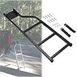 KMFCDAE Tailgate Ladder Pickup Truck Accessories Universal Extension Step Ladder with Stainless Steel Self Drilling Hex Screws