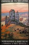 Poster Normandie Bretagne, Reproduktion, Format 50 x 70 cm,