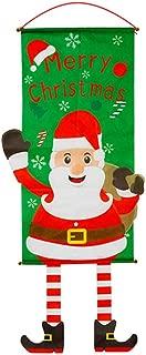 Ouken Banderas de Navidad Creativas Que cuelgan con la Bandera de Santa Claus no Tejida Decorativa de la casa de Vacaciones de Invierno Banner decoración de la Yarda de Navidad 1 Pc