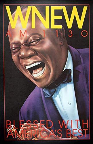 Póster de Louis Armstrong de Hickson de 1973, diseño vintage de Louis Armstrong
