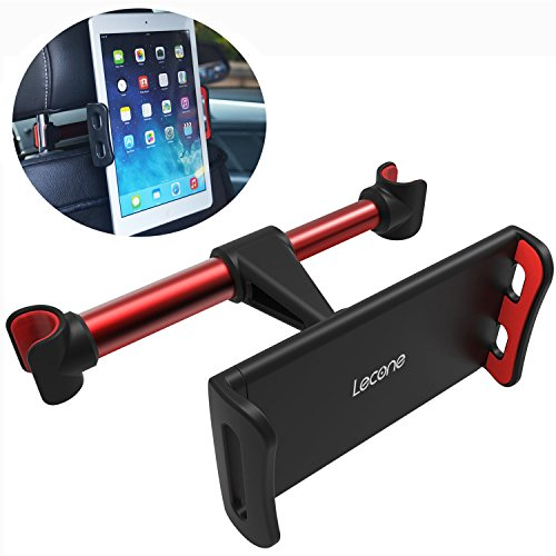 Lecone Supporto Poggiatesta per Auto Rotazione a 360 Gradi, per Tablet iPad Smartphone 4,7-12,9\'\' Porta Tablet Auto per iPad PRO Mini Air, Nintendp Switch, iPhone XS Max XR X 8 7 6, Samsung Tab ECC
