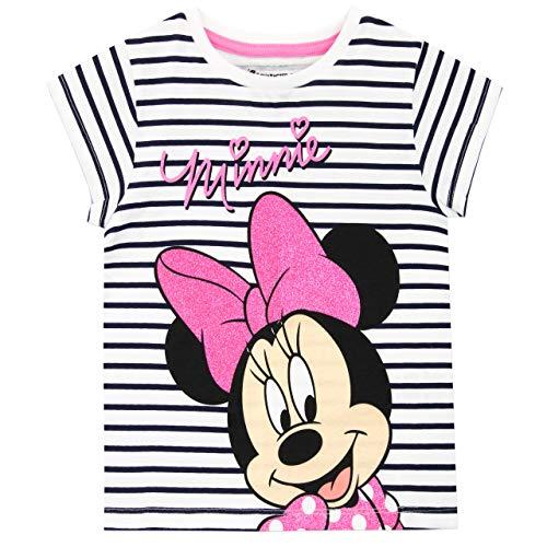 Disney Maglietta Maniche Corta per Ragazze Topolina Minnie Mouse Confezione da 2 Multicolore 3-4 Anni