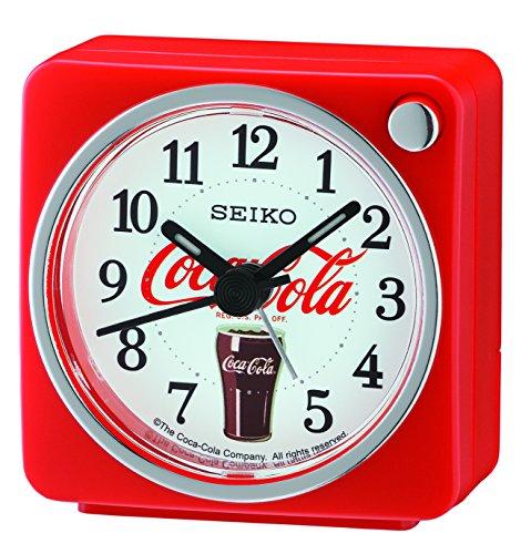 Seiko Wecker, Kunststoff, Rot, 5.8 x 5.7 x 3.4 cm