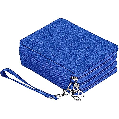 ZHANGCHI Cajas de lápices de Gran Capacidad, Bolsa de Bolsa de Bolsas Organizador de Escritorio con múltiples Compartimentos for niños for niñas Estudiantes y Suministros de Oficina, Azul