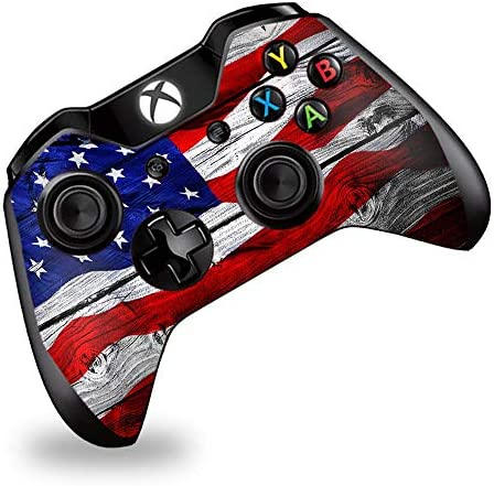 Skin Vinyl Decal Wrap for Xbox One One S Controller Skins Stickers Cover American Flag on Wood product image