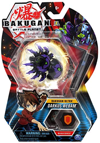 BAKUGAN 8cm Ultra Action Figure and Trading Card - Darkus Webam