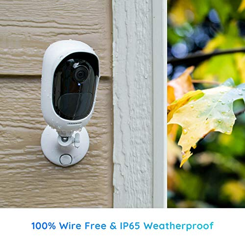 Reolink Argus 2 w/Solar Panel - Wireless Outdoor Battery Security Camera 1080p HD Wire-Free 2-Way Audio Starlight Color Night Vision, PIR Motion Sensor, Support Cloud/Alexa/Google Assistant/Local SD