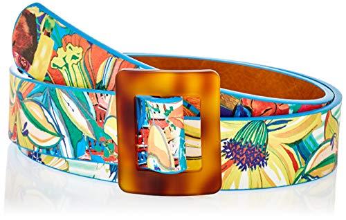 Desigual Belt_TROPICUBAN PR Cinturón, Multicolor, 95 cm para Mujer