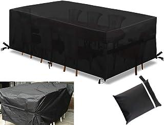 Funda para Mesa Muebles de Jardín Exterior 180xc120x74cm Impermeable Anti-UV Protección Cubierta de Muebles Sofá Mesa Silla