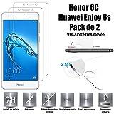 Honor 6C – Huawei Enjoy 6s Protector de Pantalla, Scott-ES [Lote 2] Vidrio Templado Cristal Protector para Honor 6C – Huawei Enjoy 6s