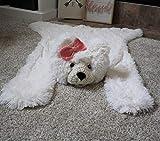 Polar Bear Faux Rug Nursery Decor Small Size (33 X 40 Inches) Girl's Woodland Nursery Decor Blanket