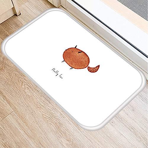 OPLJ Alfombra de Piso de Dibujos Animados Animal Perro Gato impresión Alfombra de Puerta Alfombra Moderna e Interesante absorción de Entrada A10 40x60cm