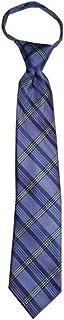 Children's Tie fits ages 4-9 years old Quartz Purple Plaid Boys Zipper Tie