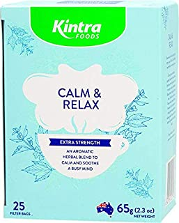 Kintra Foods Extra Strength Natural Calm and Relax 25 Filter Teabags