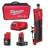 Milwaukee M12 FUEL - Amoladora recta con batería M12 FDGS-422B con 1 x M12B2 1 x M12B4