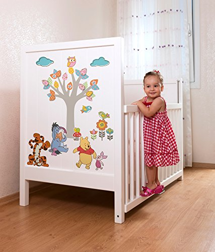 Komar Disney Deco-Sticker Pooh Nature Lovers | 50 x 70 cm-Wandtattoo, Wandsticker, Wandaufkleber, Wandbild, Winnie Puh, Kinderzimmer | 14014h, Bunt