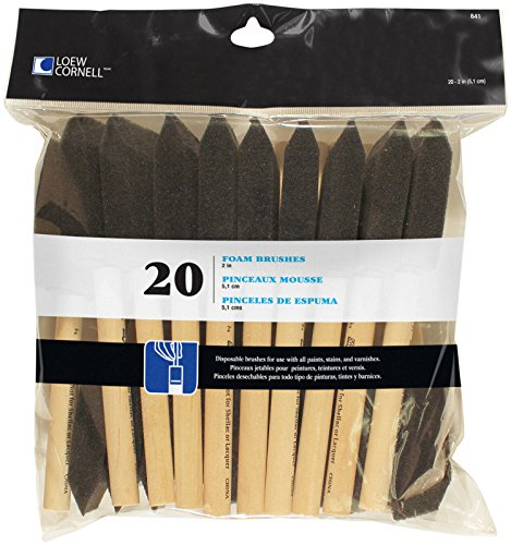 Loew-Cornell 841 20-Piece Foam Brush Set, 1-Pack, Black