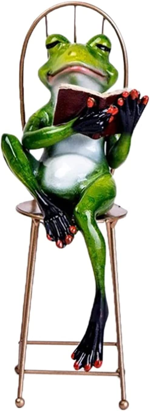 SDLAJOLLA Frog Figurines Resin Sale special price 3D Fi Model SEAL limited product Crafts Statue Animal