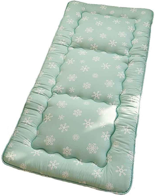Student Mattress,Mattress Mat Thick Warm Matt Mat Bay Window Cushion Siesta Mat - Snow Green-A 90x200cm(35x79inch)