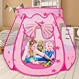Kids Ball Pit Pink Princess Tent for Baby Girls Gifts, Children Pop Up Play Tent for Toddler Girls Toys, Easy to Assemble, Suit for Indoor and Outdoor Use (Baby Ball Pit)