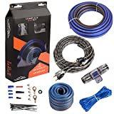 TOPSTRONGGEAR 8 Gauge Complete Amp Kit True 8 AWG Amplifier Subwoofer Installation Wiring Wire Install Cables
