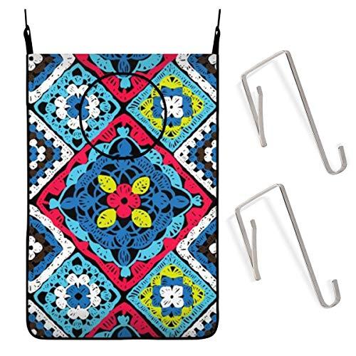 ARRISLIFE Granny Square Crochet Beauty Fashion Puerta Bolsa colgante para cesto de ropa Cesto de la ropa Bolsa de ropa sucia