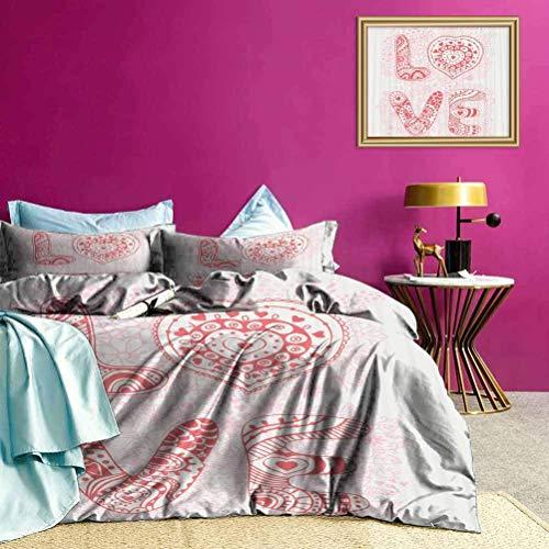 Copriletto Copriletto Romantico Bouquet d'amore Copripiumino Rendi il tuo letto divertente e confortevole