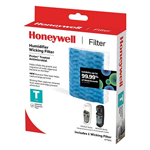 Honeywell HFT600PF1 Replacement Wicking Filter T, 1 pack, White