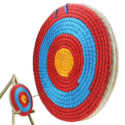 Ogrmar 3 Layers 20 inch Traditional Solid Straw Archery Target 2.2 inch Thickness Hand-Made Arrows Target for Outdoor Shooting Practice