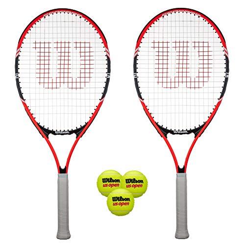 Wilson Federer 26 - Raqueta de tenis (2 unidades, incluye pelotas)