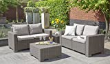 Gartenlounge Sofa California 2-Sitzer cappuccino/panama sand inkl Sitz- und Rückenkissen - 7