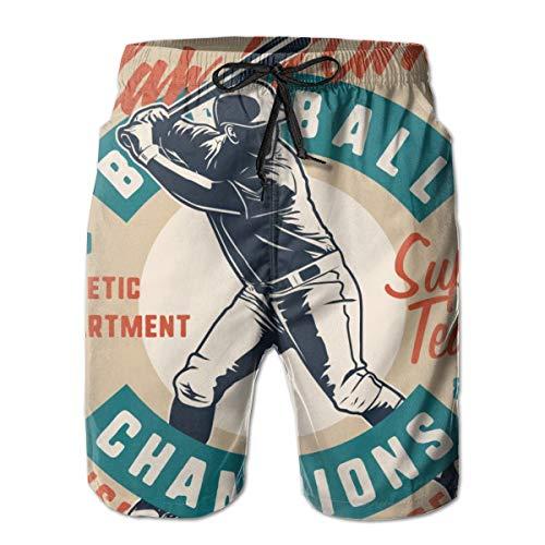 Herren Boardshorts Baseball Champion Spieler Vintage Style XL Badehose